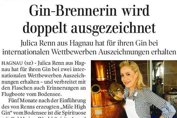 Gin-Brennerin wird doppelt ausgezeichnet