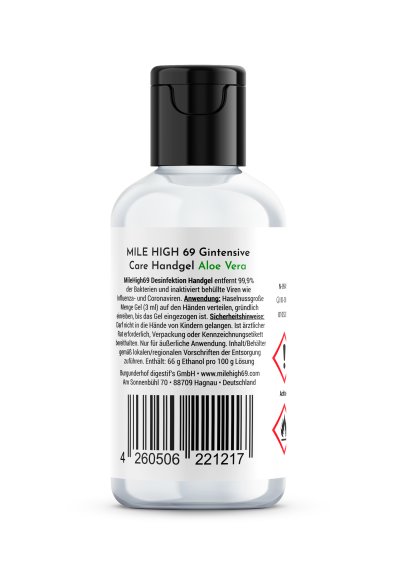 MILE HIGH 69® Desinfektion Handgel Gintensive Care